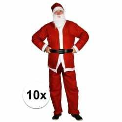 10x goedkopee santa run man carnavalsoutfits kleding volwassenen