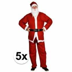 5x goedkopee santa run man carnavalsoutfits kleding volwassenen