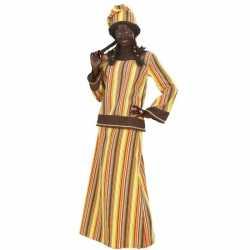 Afrikaanse dame carnavalsoutfit