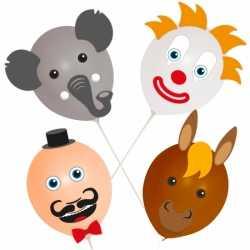 Ballonset circus 4 stuks
