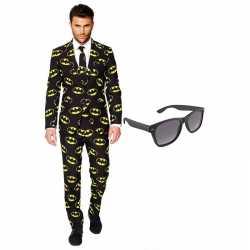 Batman mannen carnavalsoutfit maat 56 (xxxl) gratis zonnebril