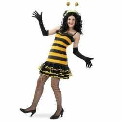 Bijen jurkje dames carnavalsoutfit / verkleedkleding