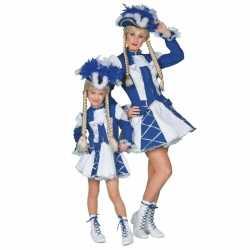 Blauw Dansmarieke carnavalsoutfit kleding meisjes