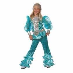 Blauw Mama Mia carnavalsoutfit kleding meisjes