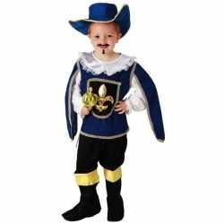 Blauw musketiers carnavalsoutfit kleding jongens