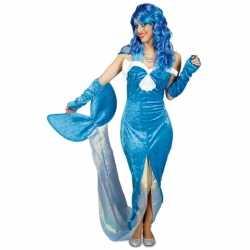 Blauw zeemeermin carnavalsoutfit kleding dames