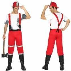 Brandweerman joe carnavalsoutfit bretels kleding mannen