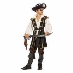 Bruin piraten carnavalsoutfit kleding jongens