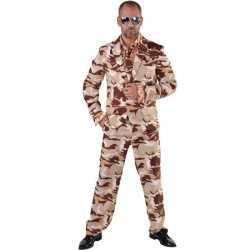 Camouflage carnavalsoutfit 3-delig kleding mannen