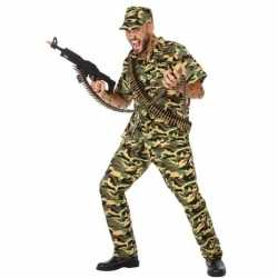 Camouflage soldaat verkleed pak/carnavalsoutfit kleding mannen
