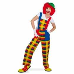 Clown pebbi carnavalsoutfit tuinbroek