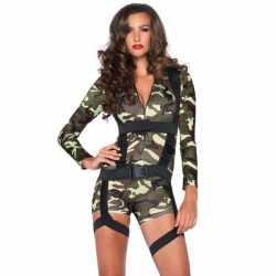 Commando leger carnavalsoutfit kleding dames