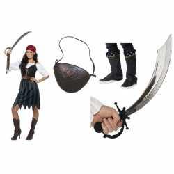 Compleet piraten carnavalsoutfit kleding dames