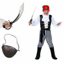 Compleet piraten carnavalsoutfit maat m kleding kinderen