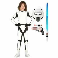 Compleet space trooper carnavalsoutfit maat 140 152 kleding kinderen