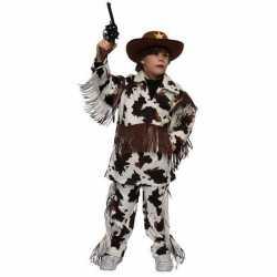 Cowboy carnavalsoutfit koeienprint kleding kinderen