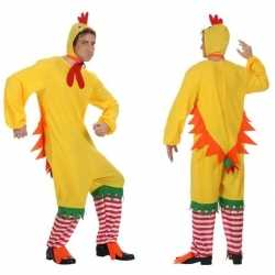 Dierenpak kip/haan/kuiken verkleed carnavalsoutfit kleding volwassene