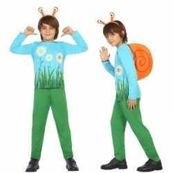 Dierenpak slak/slakken verkleed carnavalsoutfit kleding jongens