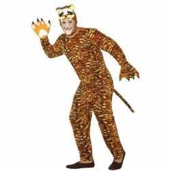 Dierenpak verkleed carnavalsoutfit tijger kleding volwassenen