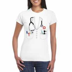 Doktersjas carnavalsoutfit t shirt wit kleding dames