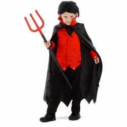 Dracula/vampier verkleed carnavalsoutfit cape kleding kinderen