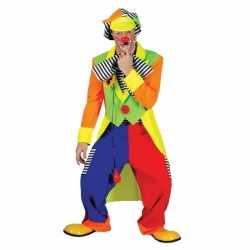 Fel gekleurd clowns carnavalsoutfit