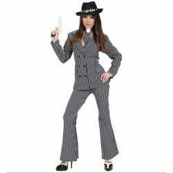 Gangster carnavalsoutfit kleding dames