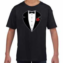 Gangster / maffia pak carnavalsoutfit t shirt zwart kleding kinderen