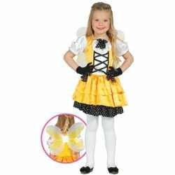 Geel vlinder carnavalsoutfit kleding meisjes