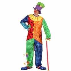 Gekleurd clowns carnavalsoutfit kleding mannen
