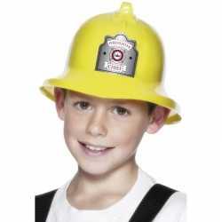Gele brandweerhelm kleding kinderen