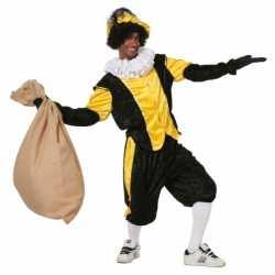 Gele zwarte pieten carnavalsoutfit budget