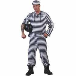 Gestreept gevangene carnavalsoutfit
