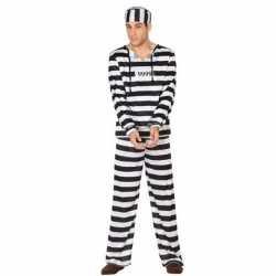 Gevangene/boef clyde verkleed carnavalsoutfit kleding mannen