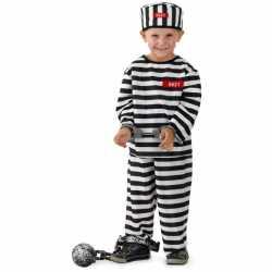 Gevangene carnavalsoutfit kleding jongens