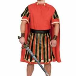 Gladiator carnavalsoutfit rood kleding mannen