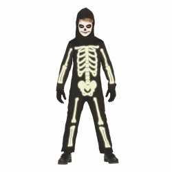 Glow in de dark skelet carnavalsoutfit kleding kinderen