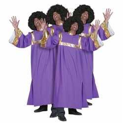 Gospel zanger carnavalsoutfit mannen
