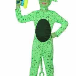 Groen alien carnavalsoutfit kleding kinderen
