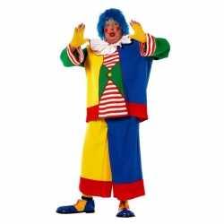 Grote maat clowns carnavalsoutfit kleding mannen