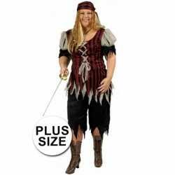 Grote maat dames piraten carnavalsoutfit