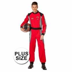 Grote maat formule 1 coureur carnavalsoutfit kleding mannen