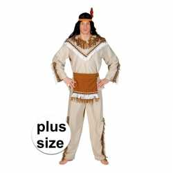 Grote maat indiaan adahy verkleed carnavalsoutfit kleding mannen