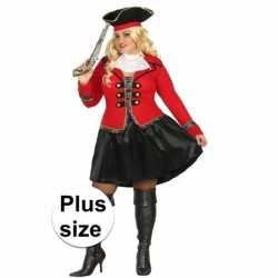 Grote maat kapitein piraat grace verkleed pak/carnavalsoutfit kleding