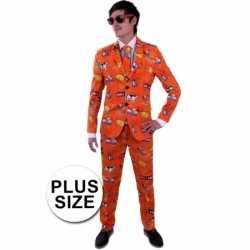 Grote maat mannen carnavalsoutfit holland kleding