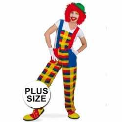 Grote maten clown pebbi carnavalsoutfit tuinbroek