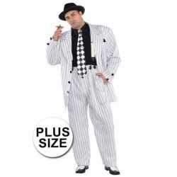 Grote maten gangster carnavalsoutfit kleding mannen
