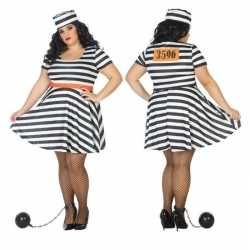 Grote maten gevangene/boef bonnie verkleed carnavalsoutfit kleding da