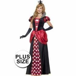 Grote maten hartenkoningin carnavalsoutfit kleding dames