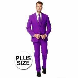 Grote maten mannen carnavalsoutfit paars